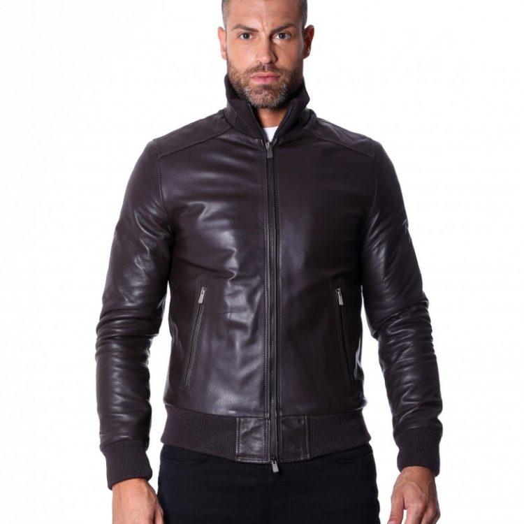 Dark Brown Nappa Lamb leather Jacket