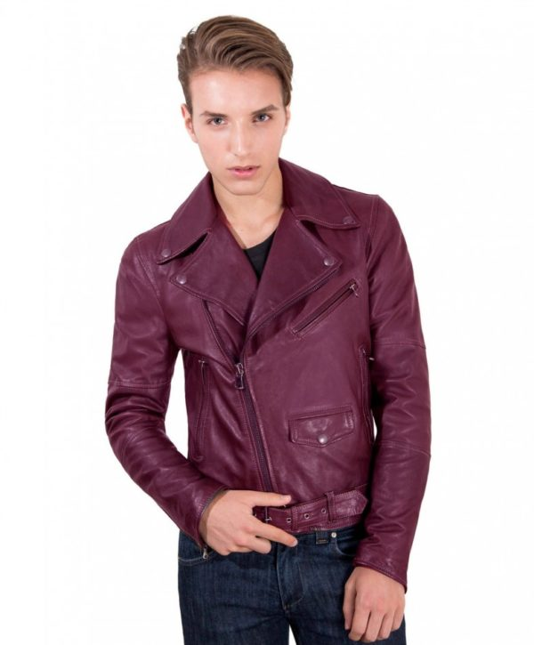 chiodo-biker-red-purple-perfecto-lamb-belted-leather-biker-jacket
