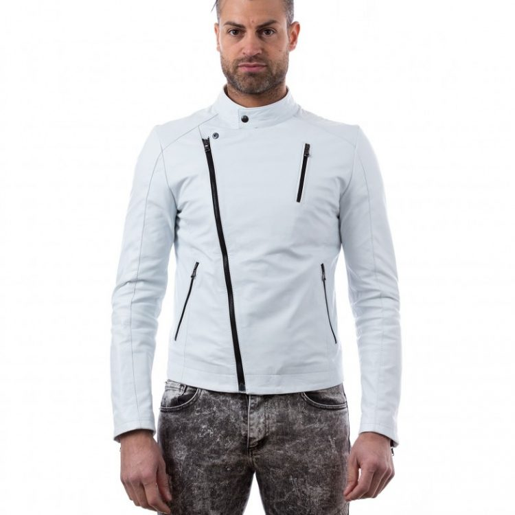 White Lamb Leather Biker Jacket