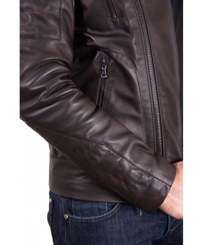 Nappa Lamb Leather Biker Perfecto Jacket Smooth Effect