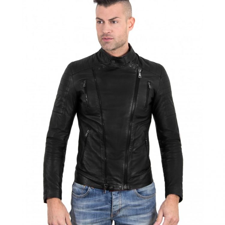 Nappa Lamb Leather Biker Perfecto Jacket Smooth Effect