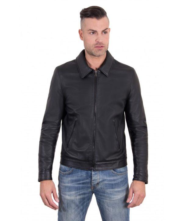 leo-black-color-nappa-lamb-leather-jacket-shirt-collar