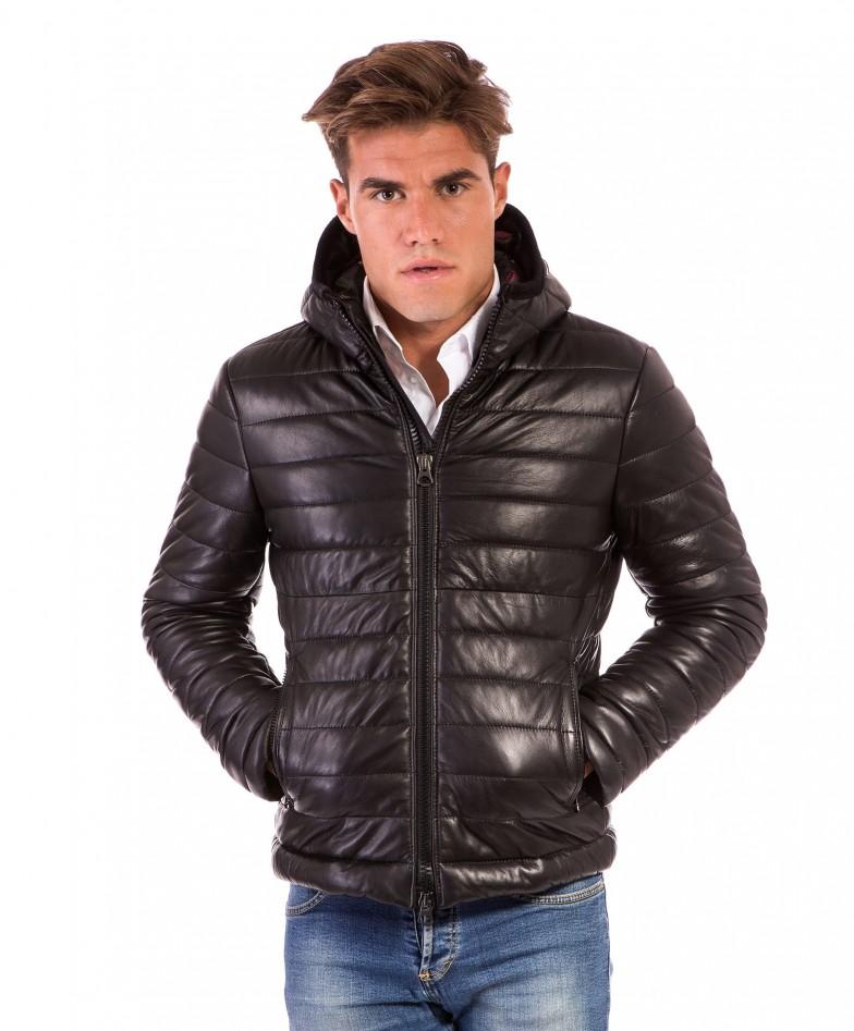 men-s-leather-down-jacket-genuine-soft-leather-central-zip-black-color-mod-teo