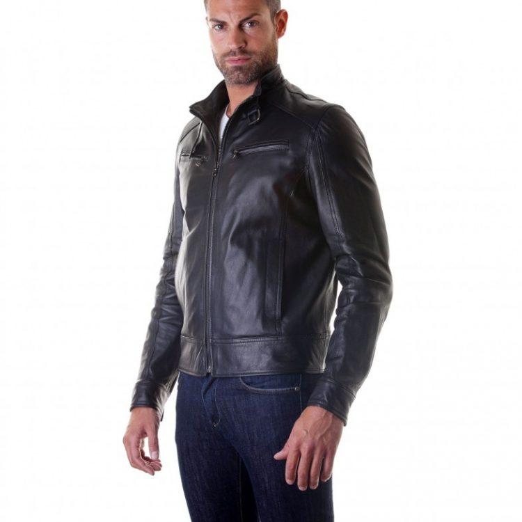 lamb biker leather jacket