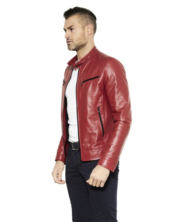 men-s-leather-jacket-genuine-soft-leather-biker-style-collar-mao-red-color-hamilton (3)