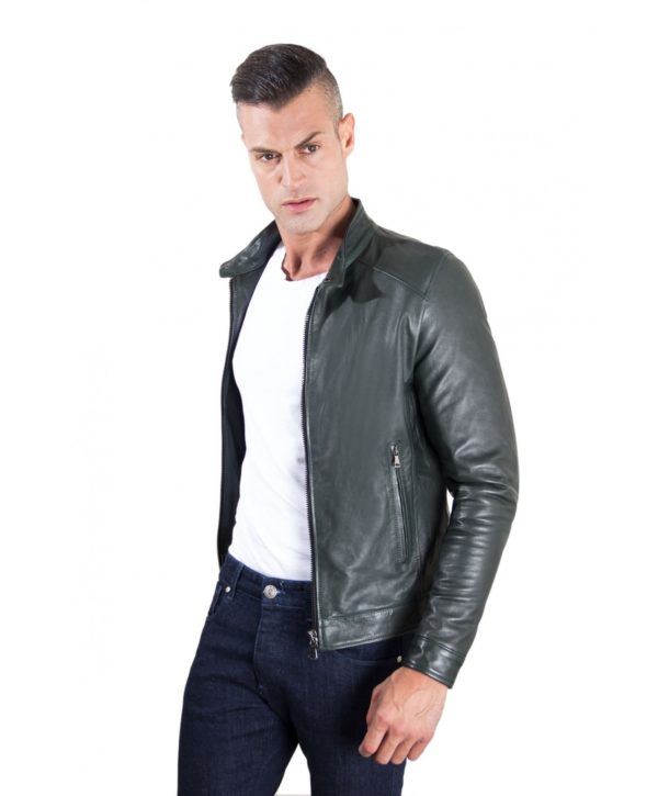 men-s-leather-jacket-korean-collar-two-pockets-green-color-hamilton (2)