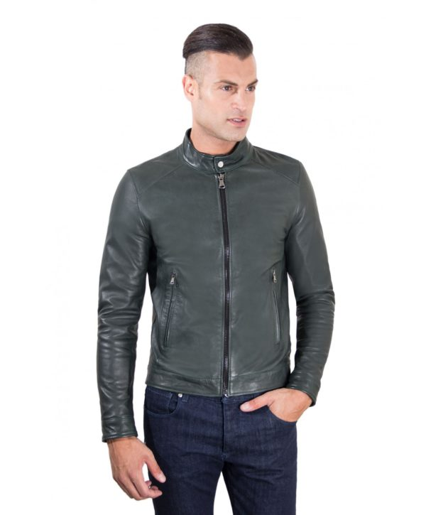 men-s-leather-jacket-korean-collar-two-pockets-green-color-hamilton