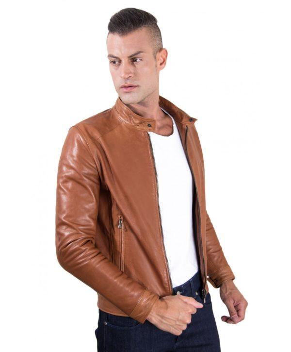 men-s-leather-jacket-korean-collar-two-pockets-tan-color-hamilton (2)