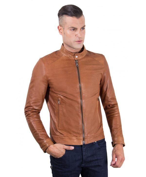 men-s-leather-jacket-korean-collar-two-pockets-tan-color-hamilton