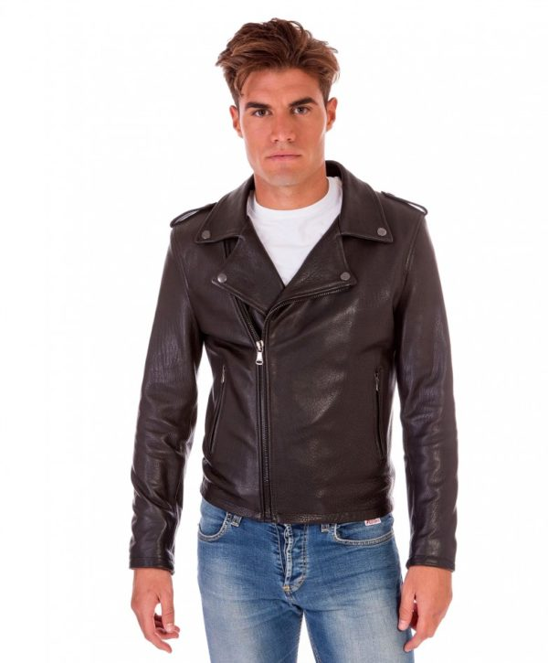 men-s-leather-jacket-perfecto-flaps-on-shoulder-genuine-soft-lamb-leather-wizened-black-color-clou-