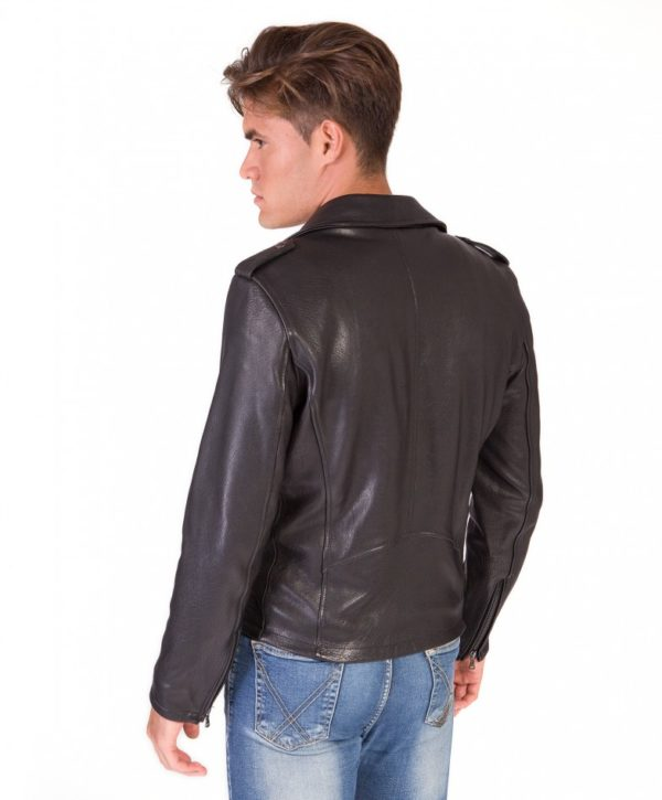 men-s-leather-jacket-perfecto-flaps-on-shoulder-genuine-soft-lamb-leather-wizened-black-color-clou- (2)
