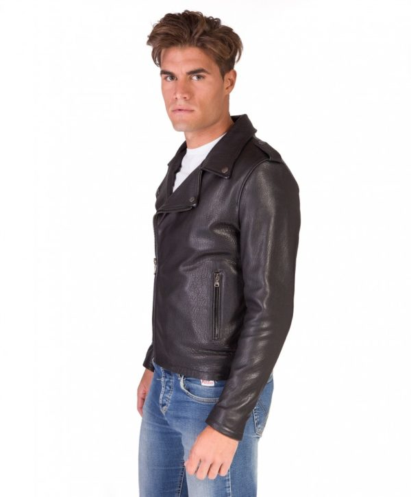 men-s-leather-jacket-perfecto-flaps-on-shoulder-genuine-soft-lamb-leather-wizened-black-color-clou- (3)