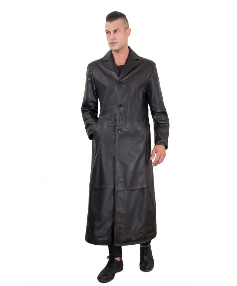 men-s-long-leather-coat-genuine-soft-leather-2-pockets-buttons-closing-black-color-2299-matrix