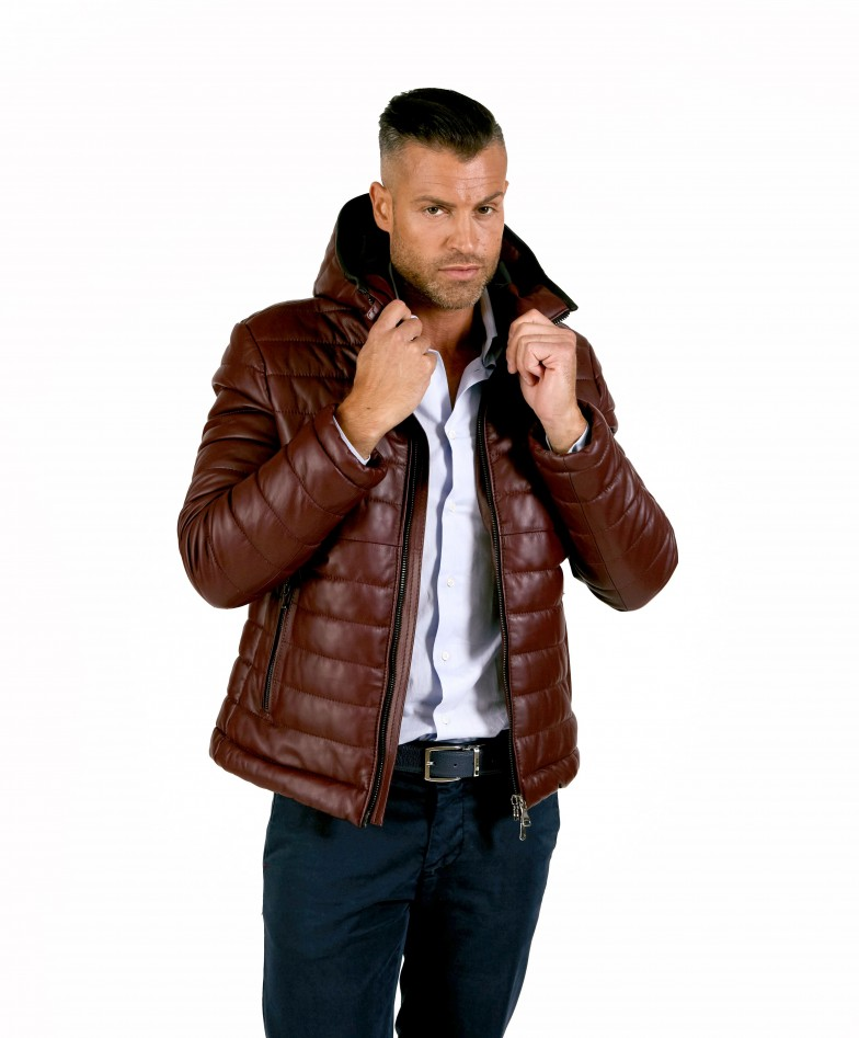 teo-red-purple-color-nappa-lamb-leather-hooded-down-jacket
