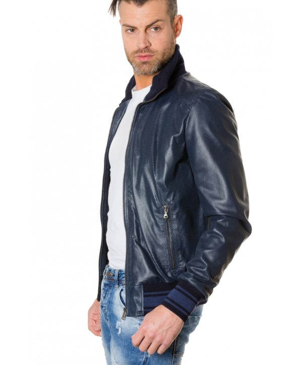 bomber-blue-colour-perforated-leather-jacket-bicoloured-collar (6)