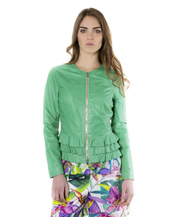 f105bl-green-color-lamb-leather-jacket-with-flounces (1)