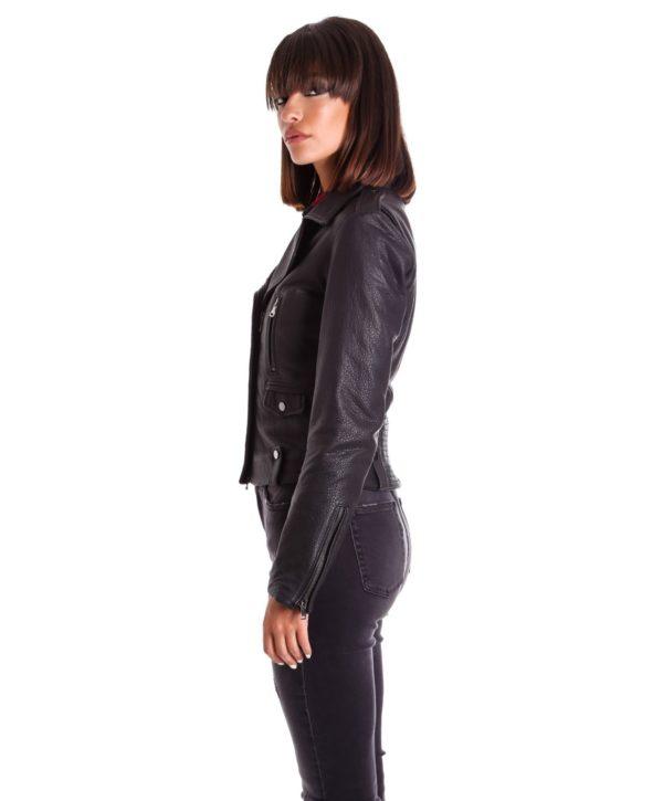giacca-in-pelle-da-donna-modello-chiodo-biker-zip-trasversale-nero-f207 (2)