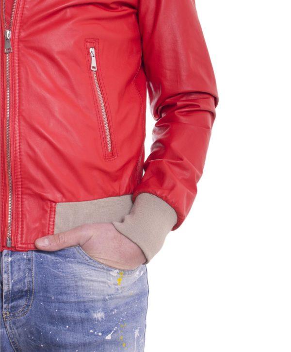 giubbotto-in-pelle-da-uomo-con-cappuccio-e-fodera-traforata-colore-rosso-biancolino (2)