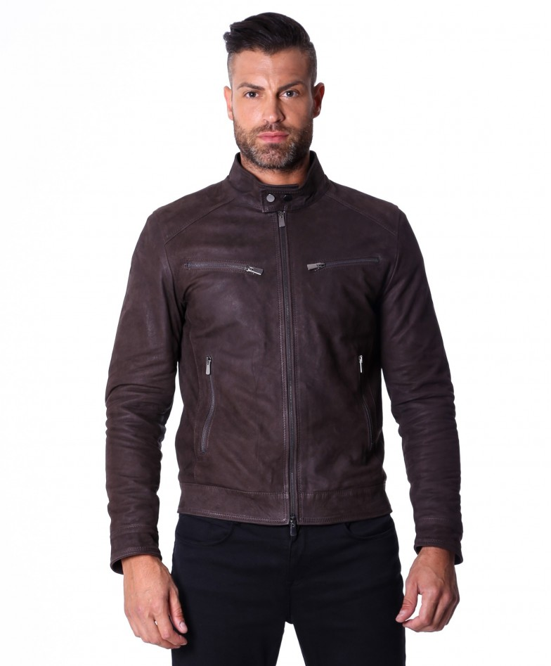 men-s-leather-jacket-genuine-nabuk-soft-leather-biker-style-collar-mao-dark-brown-color-hamilton (2)