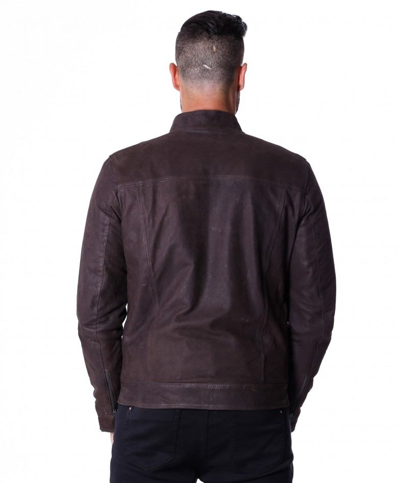 men-s-leather-jacket-genuine-nabuk-soft-leather-biker-style-collar-mao-dark-brown-color-hamilton (5)
