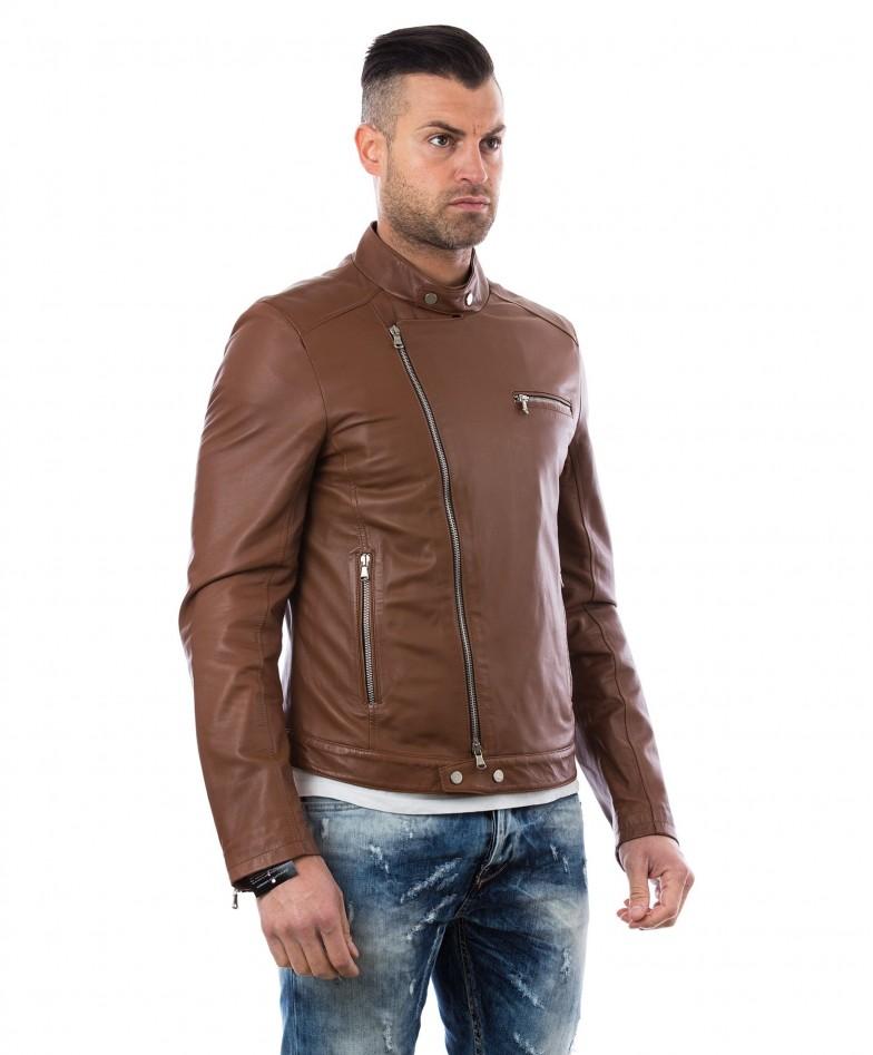 men-s-leather-jacket-genuine-soft-leather-biker-mao-collar-cross-zip-tan-color-mod-raniero-chiodo (2)