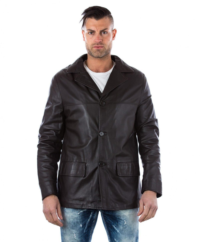 men-s-leather-jacket-genuine-soft-leather-blazer-collar-3-buttons-blue-color-mod-555