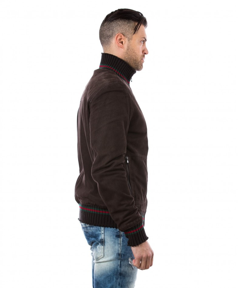 men-s-leather-jacket-genuine-soft-leather-nabuk-style-bomber-wool-cuffs-and-bottom-central-zip-dark-brown-color-mod-vito (3)