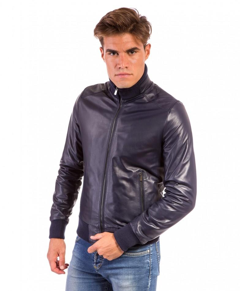 men-s-leather-jacket-genuine-soft-leather-style-bomber-central-zip-light-blue-color-bomber