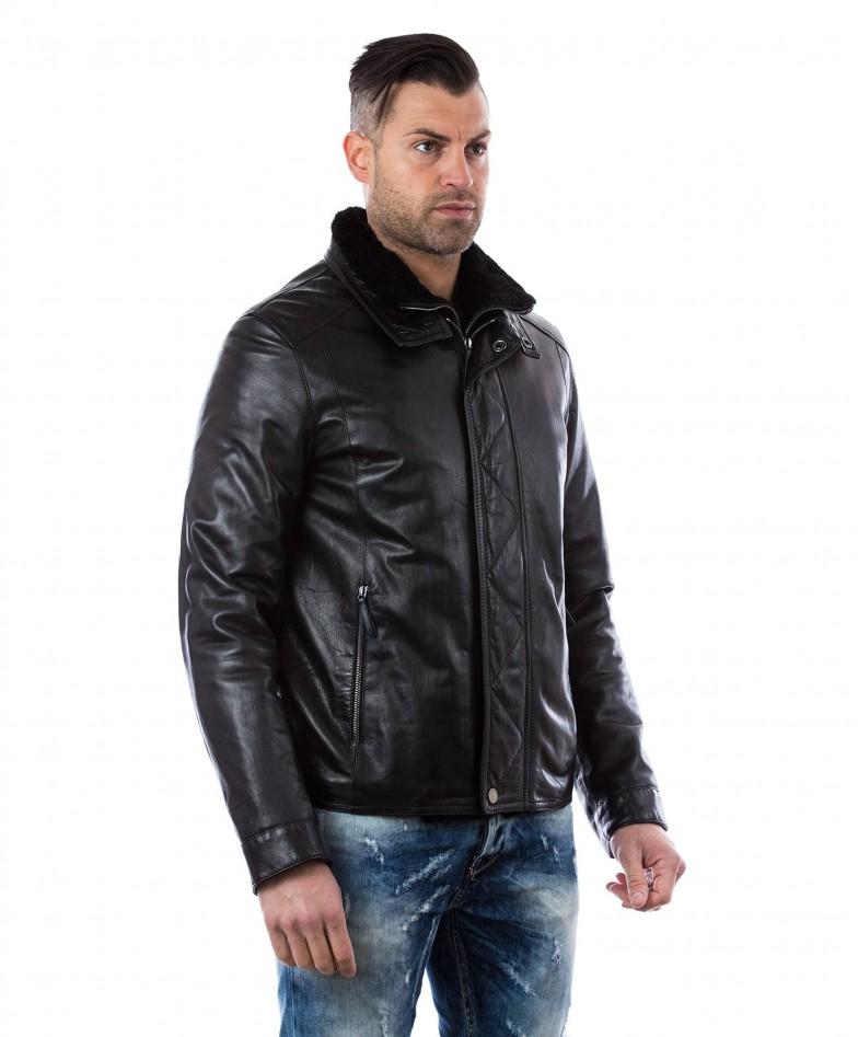 men-s-leather-jacket-mink-fur-collar-central-zip-and-buttons-pockets-regular-fit-davide-black (2)